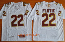 Nike 2017 Boston College Eagles Doug Flutie 22 Fenway Event Authentic Performance Jersey - White Size MD,LG,XL,2XL,3XL(China)