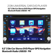 Universal GPS Navigation HD Double 2 DIN Car Stereo DVD Player Bluetooth Radio MP3 In Dash Free Shipping