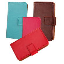 LINGWUZHE PU Leather Cover Cell Phone Pouch Wallet Holster With Card Slot Case For Karbonn Titanium Octane Plus Flip Design