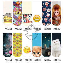 SP&CITY Cute Animal Socks 3D Print Emoji Food Socks Women Fashion Unique Boat Sock Slippers Cartoon Cat With Funny Art Socks(China)