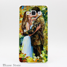 1966CA Kissing in The Woods Transparent Hard Cover Case for Galaxy A3 A5 A7 A8 Note 2 3 4 5 J5 J7 Grand 2 & Prime