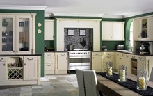 custom made solid wooden modular kitchen cabinets