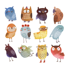 Colife Cute Owl Patches For Clothes T-shirt Dresses DIY Accessory Decoration Patch A-level Washable Patches Heat Transfer