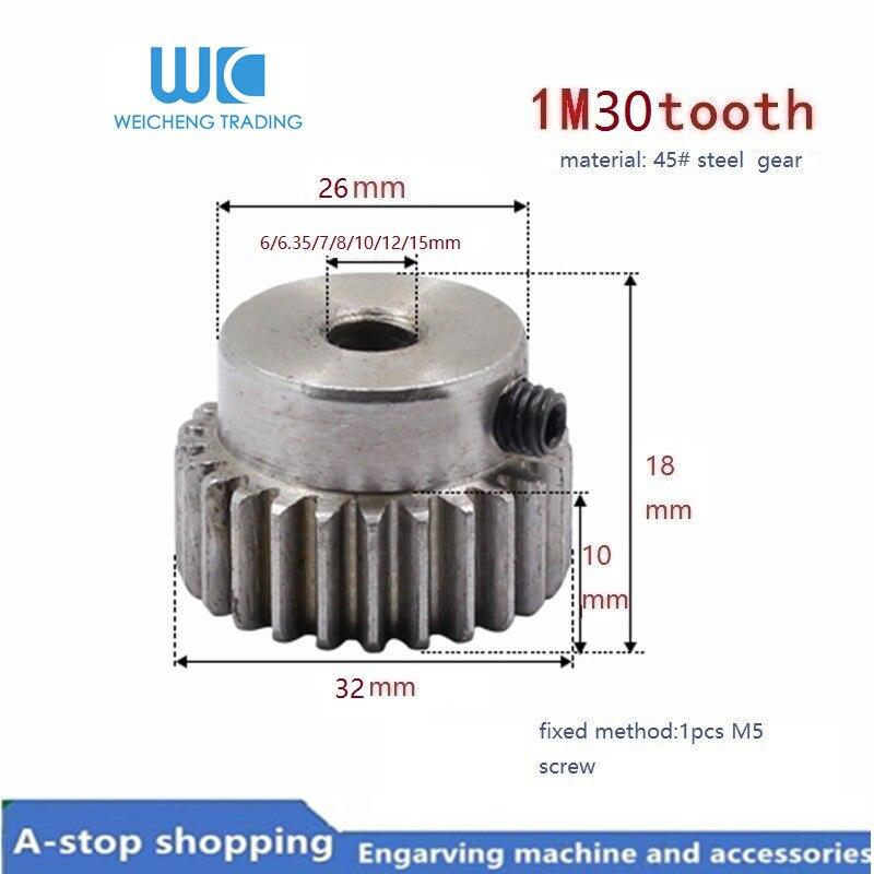 2 x 1M-40T 20mm Bore Hole 40 Teeth 40T Module 1 Motor Metal Gear Wheel Top Screw