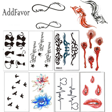 Addfavor 5pcs Waterproof Temporary Tattoos Sticker Body Arm Art Transfer Fake Tattoo Decals Personalized Totem Drawing Sticker(China)