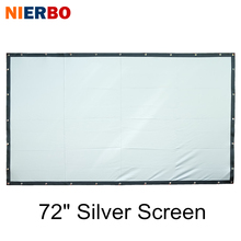NIERBO Silver Projector Screen 72 Inches HD Foldable Portable Projection Screen High Definition Business Home Theater Commercial(China)