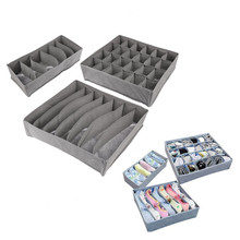 Household 3PCS Foldable Underwear Storage Bags For Bra Socks Clothes Bamboo Charcoal Fibre Storage Box
