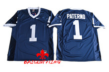 Free Shipping Nike Penn State Nittany Lions Joe Paterno 1 College Football Jersey - Navy Blue Size M,L,XL,2XL,3XL(China)