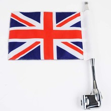 MAYITR Motorcycle Vertical Britain Flag Aluminum Rear Side Mount Flag Pole Luggage Rack for Honda GoldWing GL1800 GL1200 2001-11