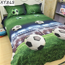 XYZLS Quality 3D Football/Soccer Bedding Set Polyester/Cotton Bedclothes Set Home Full Queen Natinonal Standards Bed Linings