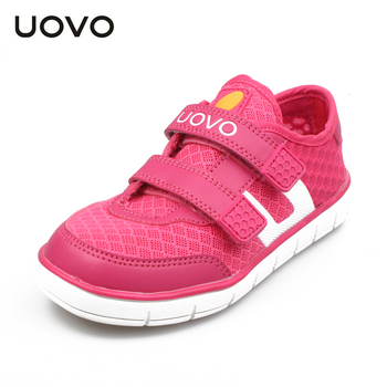 UOVO breathable children shoes summer sport shoes for girls and boys flat kids fashion sneakers Boys mesh shoes