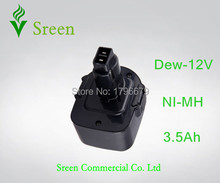 12V 3500mAh NI-MH Rechargeable Power Tool Battery Packs Replacement for Dewalt DW9071 DW9072 DE9074 DW9072 DE9075 DE9037 DE9701