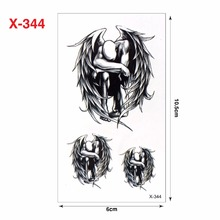Ink Color Fallen Angels Waterproof Temporary Tattoo Stickers Cute Wings Design Body Art Make Up Tools Man Woman Sex Products