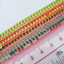 60PCS 12 colors 3d acrylic nail art decorations rhinestones beads chain nail supplies cell phone accessories