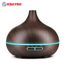 300ml Air Humidifier Essential Oil Diffuser Aroma Lamp Aromatherapy Electric Aroma Diffuser Mist Maker for Home-Wood(China)