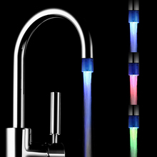 Glow LED Light Faucet Tap Water Shower Automatic Changing Glow Shower Tap Head Kitchen Pressure Sensor 7 Colors(China)