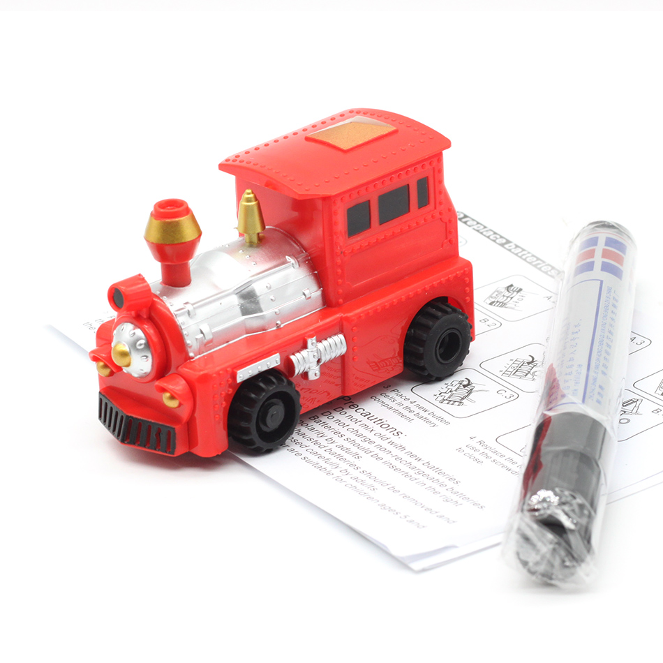New Free Delivery Magic Pen Inductive Car Truck Follow Any Drawn Black Line Track Mini Toy Engineering Vehicles Educational Toy 7