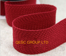 RED high quality knitting ribbon hemp cotton ribbon net fabric for fascinator hair accessory hat bag decoration belt.(China)