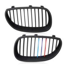 CITALL Matte Black ///M Color Front Bumper Kidney Hood Grill Grille For BMW E60 E61 M5 5 Series 540i 530i 528i 2003 - 2009 2010(China)