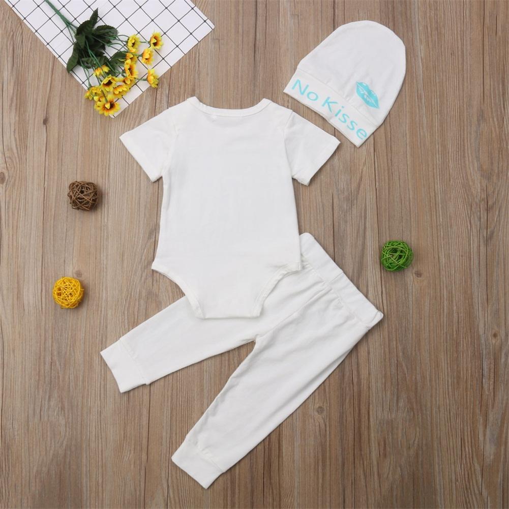 Toddler Baby Boy Girls Clothes Romper Jumpsuit Bodysuit+Pants 3pcs Outfits Clothes Set Baby Boys Girls Clothing Suits Summer New