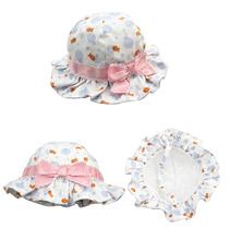 Latest Girls Large Brimmed Sun Hat Baby Cotton Summer Helmet  2016 Fashion Bow Deco Cap for Girls Baby Indoor Photography Props