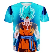 Summer the new men's t-shirts, 3 d printing dragonball choli leisure men's clothing manufacturers selling wholesale(China)