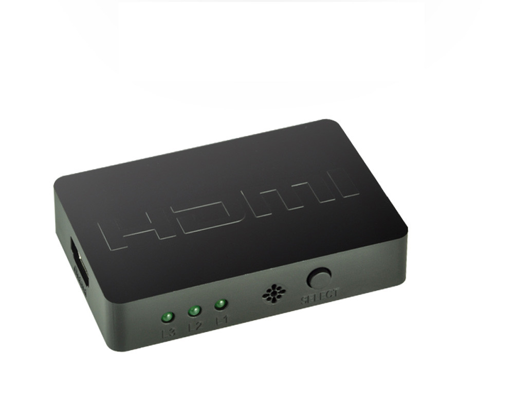 HIPERDEAL HDMI Splitter 3 Port Hub Box Auto 3 In 1 Out Switcher 3D 1080p HD 1.4