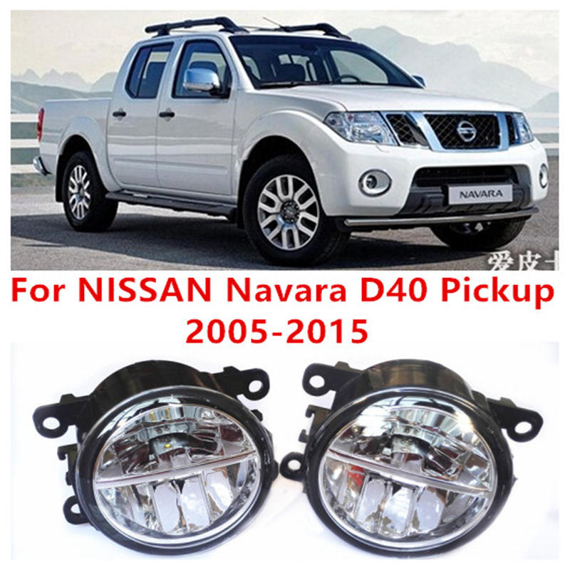 For NISSAN Navara D40 Pickup  2005-2015 Fog Lamps LED Car Styling 10W Yellow White 2016 new lights<br>