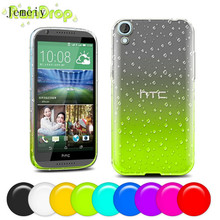 Discount !Luxuy Ultra Thin 3D TPU Soft Gel Phone Case For HTC desire 820 Back Cover ,Phone case Cover For HTC 820 Raindrop case(China)