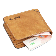 High Quality Soft Leather wallet men vintage style Baellery brand men wallets leather purse male credit card holder money bag