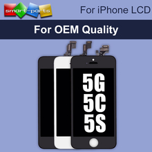 10PCS/LOT OEM AAA Quality LCD Display For Apple iPhone 5 5S 5C Touch Screen Digitizer Assembly Remplacement Parts , Free DHL(China)