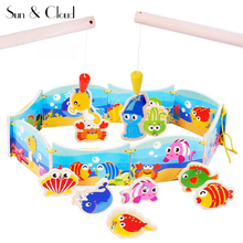 New Child Wooden Magnetic Fishing Toy Drawing Board Puzzle Master Set DIY Toy Baby Kids Educational
