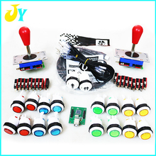 DIY arcade kit jamma mame for 28mm Arcade Push Button 4 way 8 way joystick with USB to PC/ PS3 /raspberry pi Controller