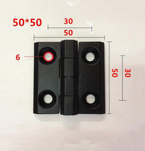 Zinc alloy hinge electric box \cabinet \ furniture hinges 50*50mm black X10