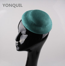Green Suede Fabric shaped mini hat fascinator base hats party headwear cocktail fascinator hair accessories DIY party headpiece