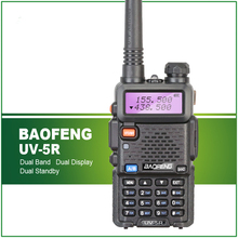 Hot Sell Dual Band Intercom UV-5R Dual Display Handheld FM Transceiver BF-UV5R Free Headset(China)