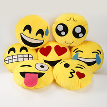 30cm Hot Sale Cute Emoji Pillows QQ Smiley Emotion Soft Decorative Cushions Stuffed Plush Toy Doll Christmas Gift For Girl