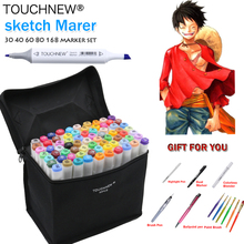 TOUCHNEW 168 Colors Artist Painting Manga Art Marker Pen Head Alcohol Art Sketch Graffiti Fineliner Markers Set Markers Designer(China)