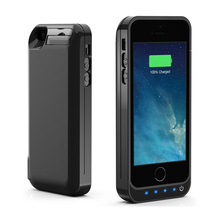 5 Color 4200mAh Backup External Battery Case Charger Case Power Bank Pack Cover Case with Srand for IPhone 5 5s 5c SE(China)