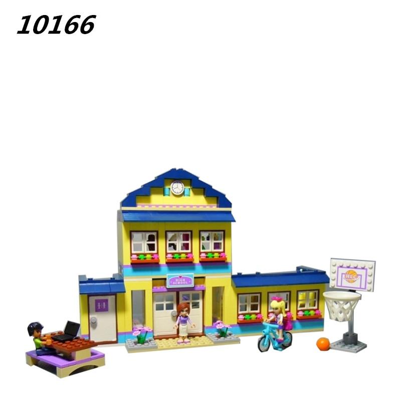 AIBOULLY 10166 2017 New 489pcs Girls Friends HeartLake City School Building Block Sets Assemble Bricks toys Compatible 41005<br>