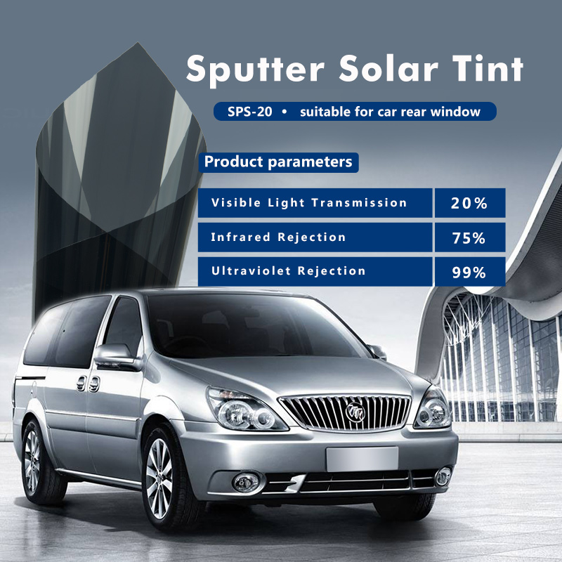 Solar control window film for 2ply sputtering car solar window film with 60inx100ft(1.52x30m)