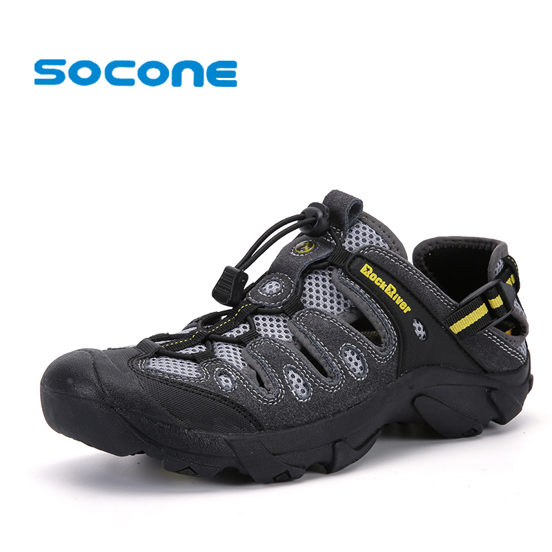 SOCONE New Outdoor Men Hiking Shoes Summer Beach Sandals Adventure Water Shoes For Men Quick Dry Durable Men Shoes Sports Sandal<br>