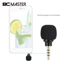 BCMaster Mini Microphone 3.5mm Jack Plug Mic mikrofon Omni-Directional Microphone For Voice Record Mobile Smart Phone Black