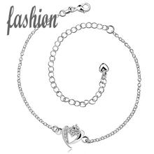 silver plated Anklet,New Design Fashion silver-plated jewelry,Delicate Handmade Cheap Anklets for gift SMTA031