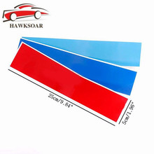 Hawksoar 3PCs Kidney Grille Sticker 25x5cm Sport Stripe 3 Colors Red Blue and Deep Blue for BMW M3 M5 M6 E46 Car-styling(China)