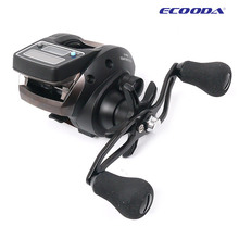 Ecooda OFB500 baitcasting fishing reel with electronic counting and dual power 6+1BB,6.2:1 left/right hand,free shipping