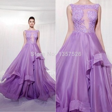 Puffy Lavender Lilac Prom Dress Bling Sexy Evening Dresses Purple Backless 2017 Vestidos Formal Ball Gowns Lace Long Cheap TT111