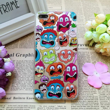 3D Moving Eyes Mobile Shell for iPhone 6 6s 1 Pc/lot Transparent Acrylic Cartoon Funny Simpson Fries Popcorn Cell Phone Case