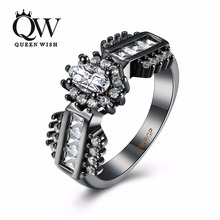 Queenwish Engagement Rings for Women Silver Color Bands With White Zircon Stone Inlay Cheap Wedding Ring Fashion Jewelry Stores(China)