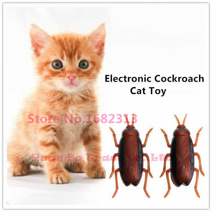 2019 Brand New Cat Toy Electronic Cockroach Cat Toy Fun Cat
